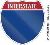 blank interstate highway shield ... | Shutterstock . vector #407362183