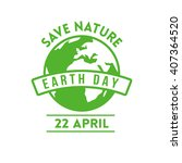 earth day design concept.... | Shutterstock .eps vector #407364520