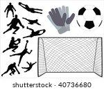 soccer goalkeeper vector | Shutterstock .eps vector #40736680