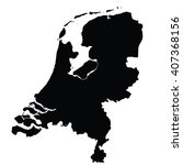black map of netherlands | Shutterstock .eps vector #407368156