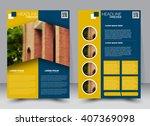 abstract flyer design... | Shutterstock .eps vector #407369098