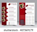 abstract flyer design... | Shutterstock .eps vector #407369179