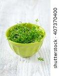 garden cress ready to be eaten | Shutterstock . vector #407370400