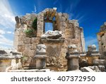 ancient city of perge near... | Shutterstock . vector #407372950