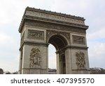 arc de triomphe. paris  france | Shutterstock . vector #407395570
