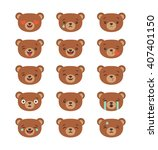 set of emoticons  emoji... | Shutterstock .eps vector #407401150