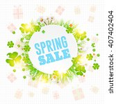 spring sale concept ad... | Shutterstock .eps vector #407402404