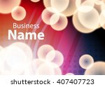 red abstract template for card... | Shutterstock .eps vector #407407723