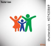 happy family icon in simple... | Shutterstock .eps vector #407420869