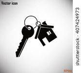 vector illustration keychain...   Shutterstock .eps vector #407424973