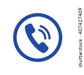 phone   icon   isolated. flat ... | Shutterstock .eps vector #407427409