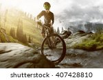 mountainbiker in the mountains | Shutterstock . vector #407428810
