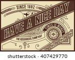 retro label. vector | Shutterstock .eps vector #407429770