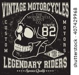 motorcycle vintage graphic ... | Shutterstock .eps vector #407429968