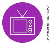 retro television line icon. | Shutterstock .eps vector #407436934