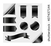 black ribbons set isolated on...   Shutterstock .eps vector #407437144
