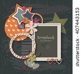 framework for invitation or... | Shutterstock .eps vector #407443153