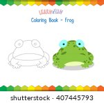 frog coloring book educational...   Shutterstock .eps vector #407445793