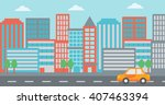 background of modern city. | Shutterstock .eps vector #407463394