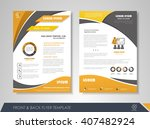 front and back page brochure... | Shutterstock .eps vector #407482924