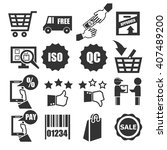 shopping  market  sell icon set | Shutterstock .eps vector #407489200