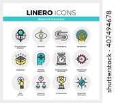line icons set of strategic... | Shutterstock .eps vector #407494678