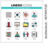 line icons set of business... | Shutterstock .eps vector #407494720
