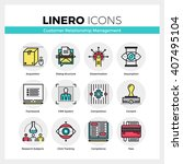 line icons set of customer... | Shutterstock .eps vector #407495104