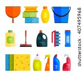 cleaner equipment products in... | Shutterstock .eps vector #407495968