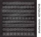vintage decorative pattern... | Shutterstock .eps vector #407496748