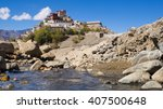 thikse monastery on the...   Shutterstock . vector #407500648