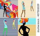 young stylish woman and ...   Shutterstock .eps vector #407503039
