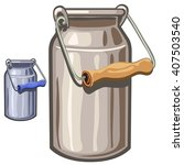 a can of stainless steel...   Shutterstock .eps vector #407503540