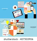 online safety  data protection  ... | Shutterstock .eps vector #407503906