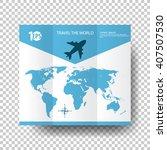 cartoon clip art concept travel ... | Shutterstock .eps vector #407507530