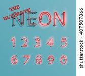 realistic neon character... | Shutterstock .eps vector #407507866