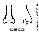 contour vector icon of nose in... | Shutterstock .eps vector #407509144