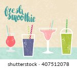 fresh juice made in flat style. ... | Shutterstock .eps vector #407512078