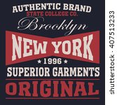 new york  typography fashion  t ... | Shutterstock .eps vector #407513233
