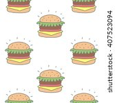 burger vector print   Shutterstock .eps vector #407523094