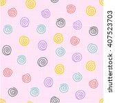 spirals seamless pattern ... | Shutterstock .eps vector #407523703