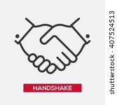business handshake partnership... | Shutterstock .eps vector #407524513