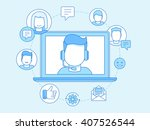 vector business illustration in ... | Shutterstock .eps vector #407526544