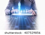 human reesources management and ... | Shutterstock . vector #407529856