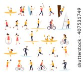 physical activity people... | Shutterstock .eps vector #407531749