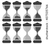 vector set of sandglass  | Shutterstock .eps vector #407535766