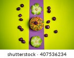 multicolored easter gingerbread ... | Shutterstock . vector #407536234