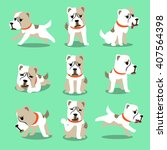 cartoon character alabai dog... | Shutterstock .eps vector #407564398