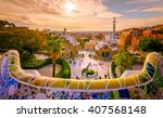 view of the city from park... | Shutterstock . vector #407568148
