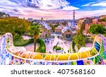 view of the city from park... | Shutterstock . vector #407568160